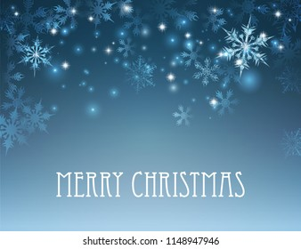 A Merry Christmas winter snowflake background