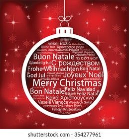 Merry Christmas In Different Languages.Merry Christmas Many Languages Images Stock Photos
