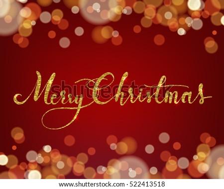 Merry christmas wording on light bokeh stock vector royalty free merry christmas wording on light bokeh background concept design for greeting card banner m4hsunfo
