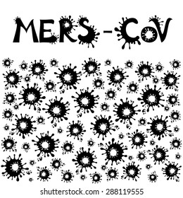 Mers Corona Virus, MERS-COV. Vector Illustration