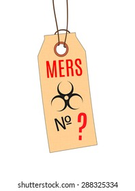 MERS virus outbreak. The tag on the finger of the deceased. Vector.