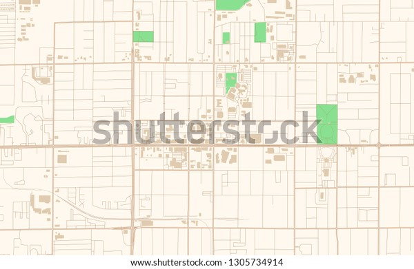 Mesa Arizona Printable Map Excerpt This Stock Vector ...