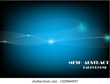 Mesh abstract vector background