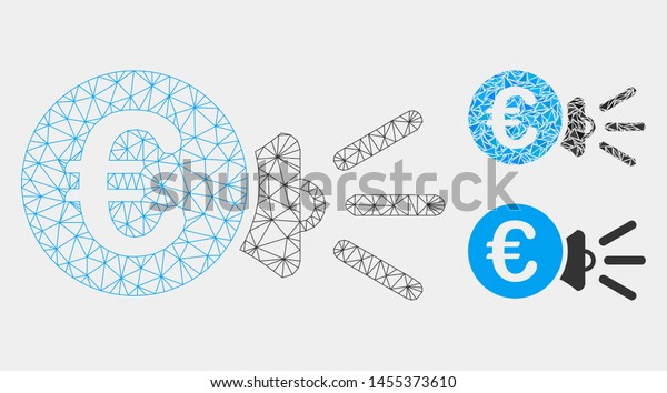 Mesh Euro Megaphone Ads Model Triangle Stock Vector (Royalty ... A Megaphone Wiring Diagram on