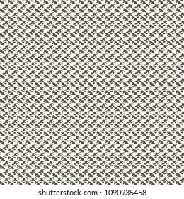Mesh knitted texture in half tone. Embroidery. Monochrome graphic decorative background. Vector illustration.