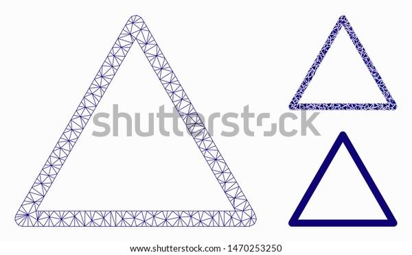 ostaa paras paras valinta iso alennus Mesh Rounded Triangle Frame Model Triangle Stock Vector ...