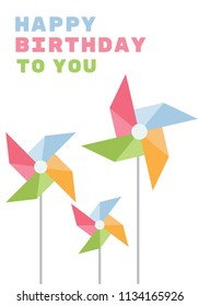 A mesmerizing colorful designed card with greetings depicting birthday wishes via card