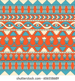 Mesopotamia ornament Tribal seamless pattern. Can be used for cloth, jackets, invitation, flyers, bags, notebooks, cards, envelopes, pads, blankets, furniture, packing,