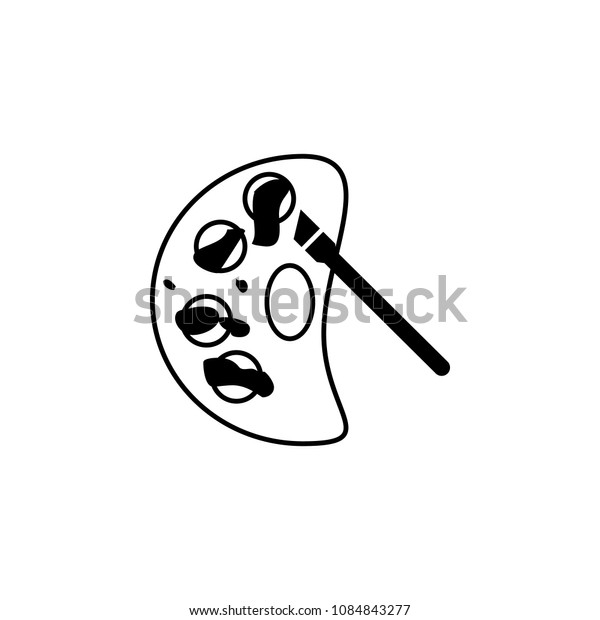 Mess in the paint icon. Simple element illustration. Mess in the paint symbol design from mess collection. Can be used in web and mobile on white background