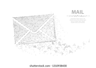 Message. Abstract vector envelope icon isolated on white. Internet mail, business letter symbol. Digital email, post communication, mailing, receive correspondence concept illustration or background
