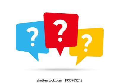 Nachrichtenfeld mit Fragezeichen-Symbol