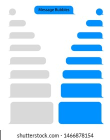Message bubble chat for text, sms. Chat messenger at bubble form in flat style. Blank message for text for web, phone. vector eps10