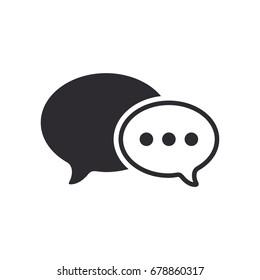 Message bubble. Bubble template. Speech bubble. Chat sign. Communication symbol. Vector speech bubble. Notification icon. Social Media element. New message. Chat Icon.