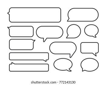 Message bubble. Bubble template. Speech bubble. Chat sign. Communication symbol. Vector speech bubble. Notification icon. Social Media element. New message. Chat Icon. Conversation