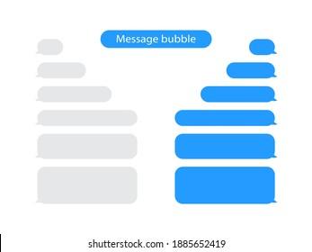 Message bubbles chat vector. Message bubbles design template for messenger chat or website. Vector template messages bubbles chat icons.
