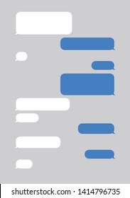Message bubbles chat. Vector illustration