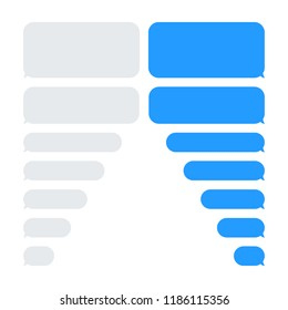 Message bubbles chat vector. Vector template of message bubbles chat boxes icons