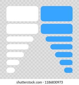 Message bubbles chat vector. Vector template of message bubbles chat boxes icons. Message template.