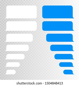 Message bubbles design template for chat or website. Modern vector illustration flat style.