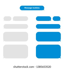 Message bubbles design template for messenger chat. Vector stock illustration.  Flat design for business financial marketing banking advertising web concept cartoon illustration.
