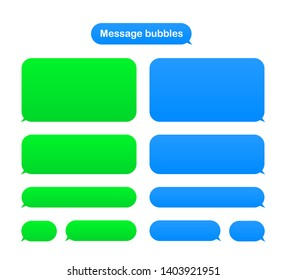 Message bubbles design template for messenger chat. Vector stock illustration.