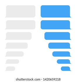 Message bubbles design template for messenger chat or website. Modern vector illustration flat style.