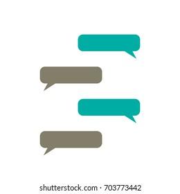 message bubbles vector  text box  chat
