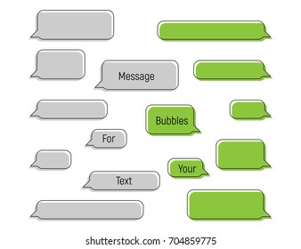 Message bubbles for your text - symbol in trendy flat style