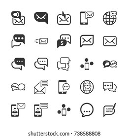 Message and Communication Icons