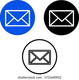 message, email, envelop vector icons for using UI / UX projects and app designs.