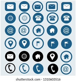 message ,email , location , telephone,->   ICONS