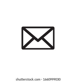 message envelope mail icon vector
