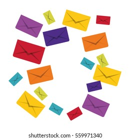 message envelope mail related icons image vector illustration design