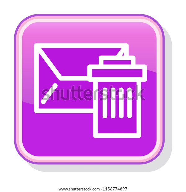 Message Icon Deleting Envelope Sending Recycle Stock Vector
