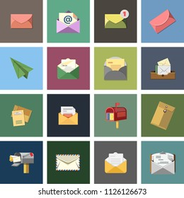 message icon, envelope illustration - vector mail icon, send letter isolated. communication icons