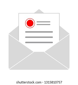 message icon, envelope illustration - vector mail icon, send letter isolated. communication icon