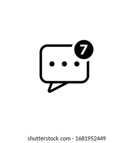 Message icon illustration isolated vector sign symbol
