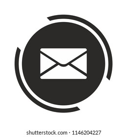 Message icon. Mail symbol. Vector