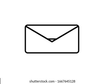 Message icon vector, email envelope, logo illustration.Mail SMS