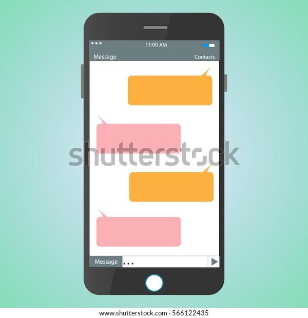 Message Mobile Dialog Vector Stock Vector (Royalty Free
