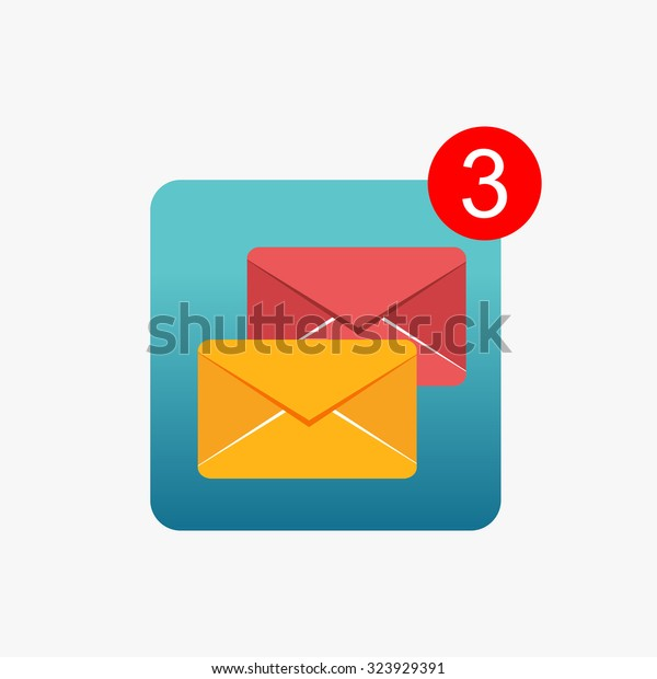 Message notifications icon concept. Inbox messages.
