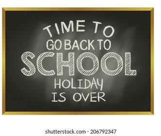 message on the blackboard