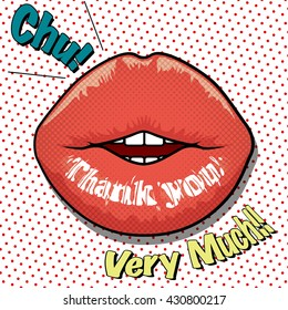 message on the lip -Thank you!