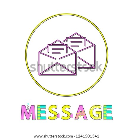 message post mails opened envelopes information stock vector