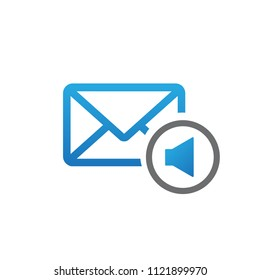 message sound notification vector icon