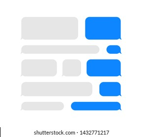 Message speech bubbles chat. Vector template of bubbles chat - Vector