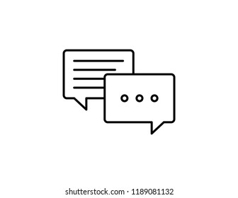Message waiting texting chat message bubble vector black line art symbols on white background for commercial business medical cannabis health services website