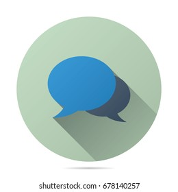 messaging talk chat icon vector flat style