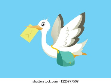 messenger bird flying with message