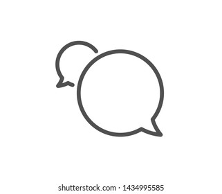 Messenger line icon. Speech bubble sign. Chat message symbol. Quality design element. Linear style messenger icon. Editable stroke. Vector